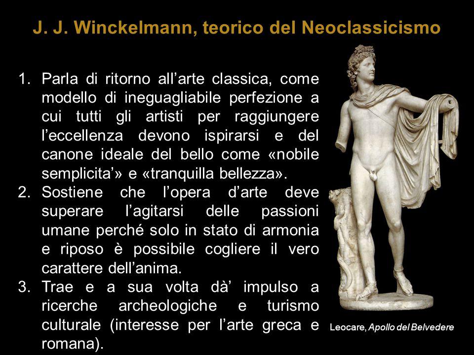 1.Parla di ritorno all'arte classica, come modello di ineguagliabile perfezione a cui tutti gli artisti per raggiungere l'eccellenza devono ispirarsi