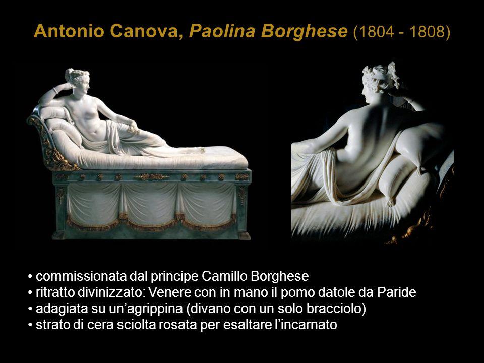 Antonio Canova, Paolina Borghese (1804 - 1808) commissionata dal principe Camillo Borghese ritratto divinizzato: Venere con in mano il pomo datole da
