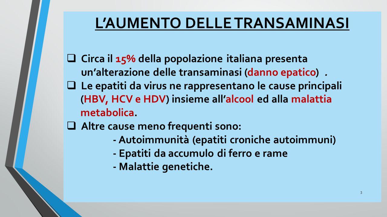 LE EPATITI CRONICHE Epidemiologia  1.500.000 residenti in Italia sono anti HCV-positivi e di questi si calcola che i 2/3 abbiano una infezione attiva.