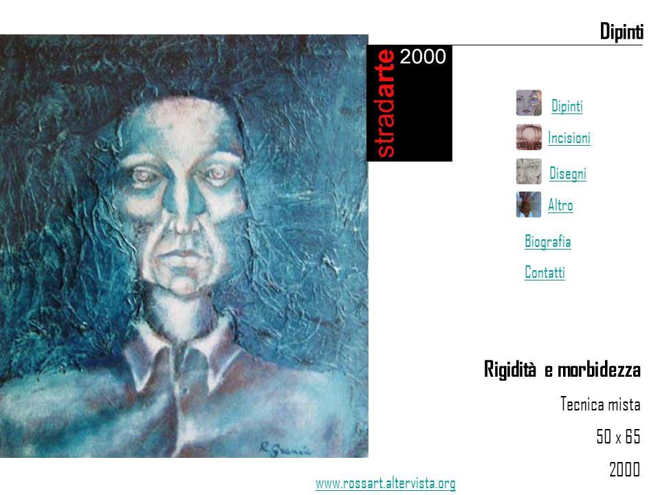 Rigidità e morbidezza Tecnica mista 50 x 65 2000 Dipinti www.rossart.altervista.org Dipinti Incisioni Disegni Altro Biografia Contatti