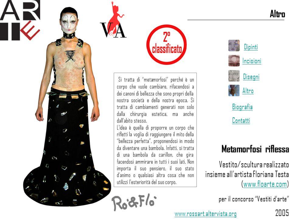 """Metamorfosi riflessa Vestito/scultura realizzato insieme all'artista Floriana Testa (www.floarte.com)www.floarte.com per il concorso """"Vestiti d'arte"""""""