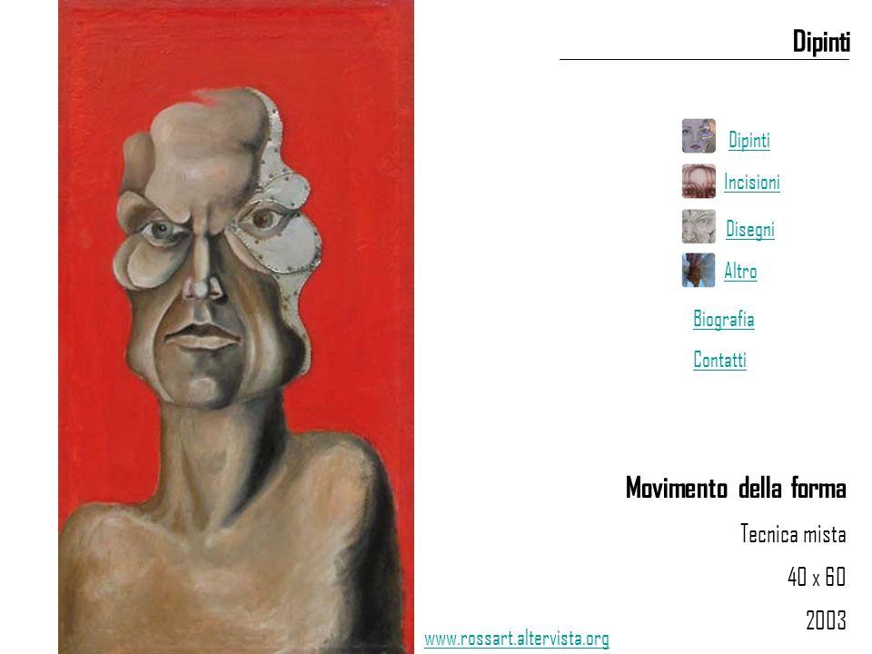 Movimento della forma Tecnica mista 40 x 60 2003 Dipinti www.rossart.altervista.org Dipinti Incisioni Disegni Altro Biografia Contatti