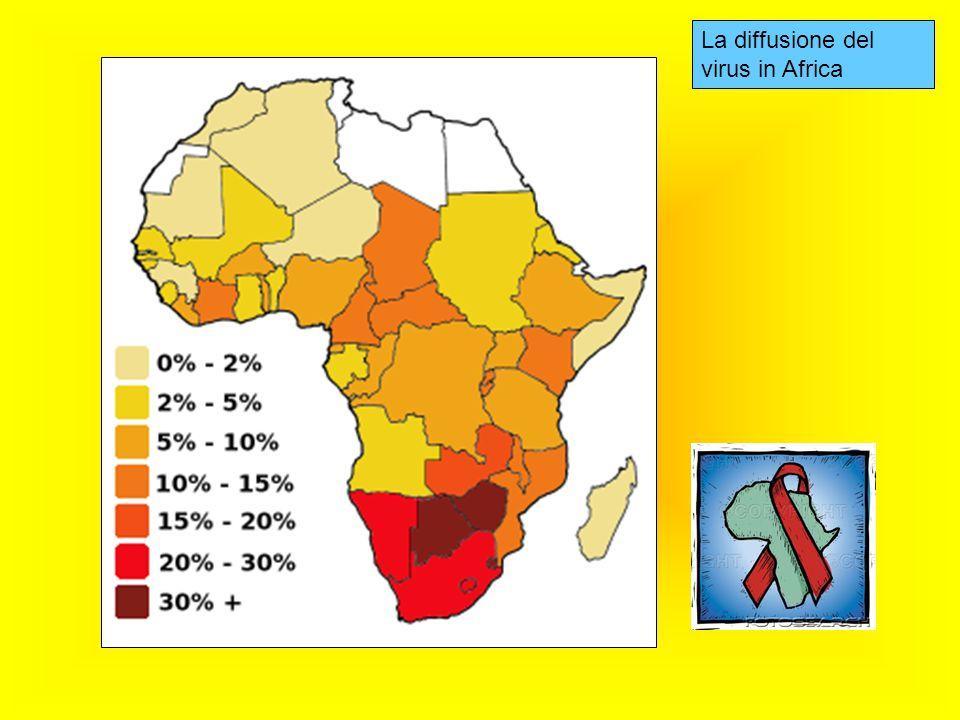 La diffusione del virus in Africa