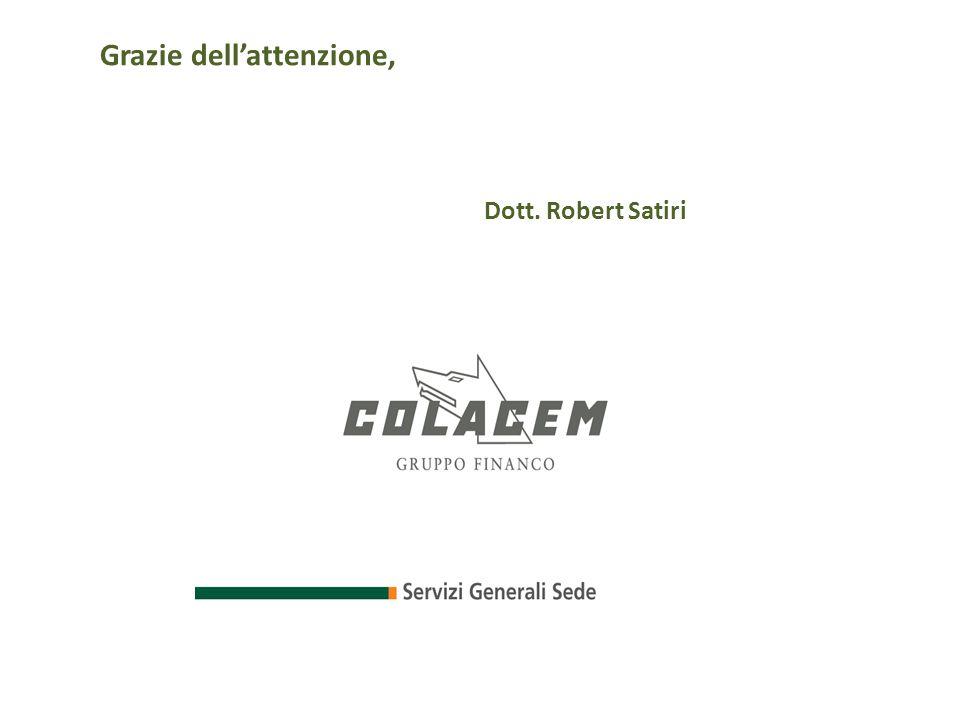 Grazie dell'attenzione, Dott. Robert Satiri