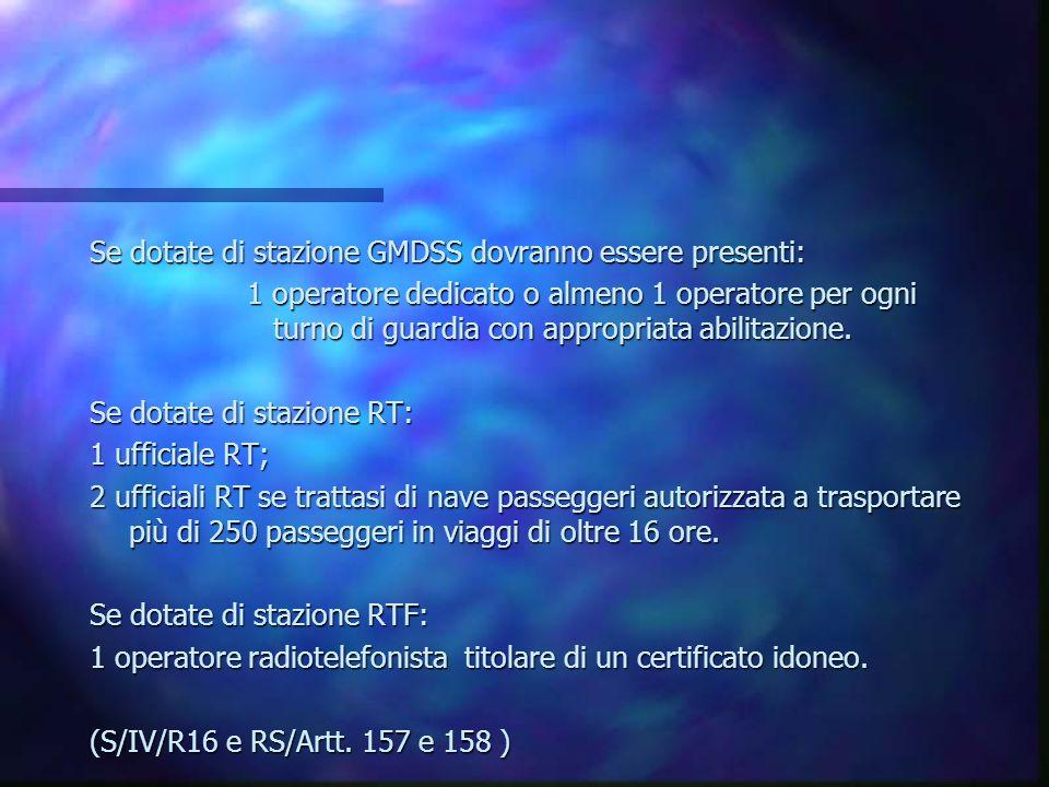 EQUIPAGGIO Deve essere presente a bordo un appropriato documento attestante la consistenza minima di sicurezza dell'equipaggio. (S/V/R13 Art. 317 C.d.