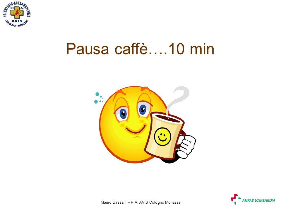 Mauro Bassani – P.A. AVIS Cologno Monzese Pausa caffè….10 min