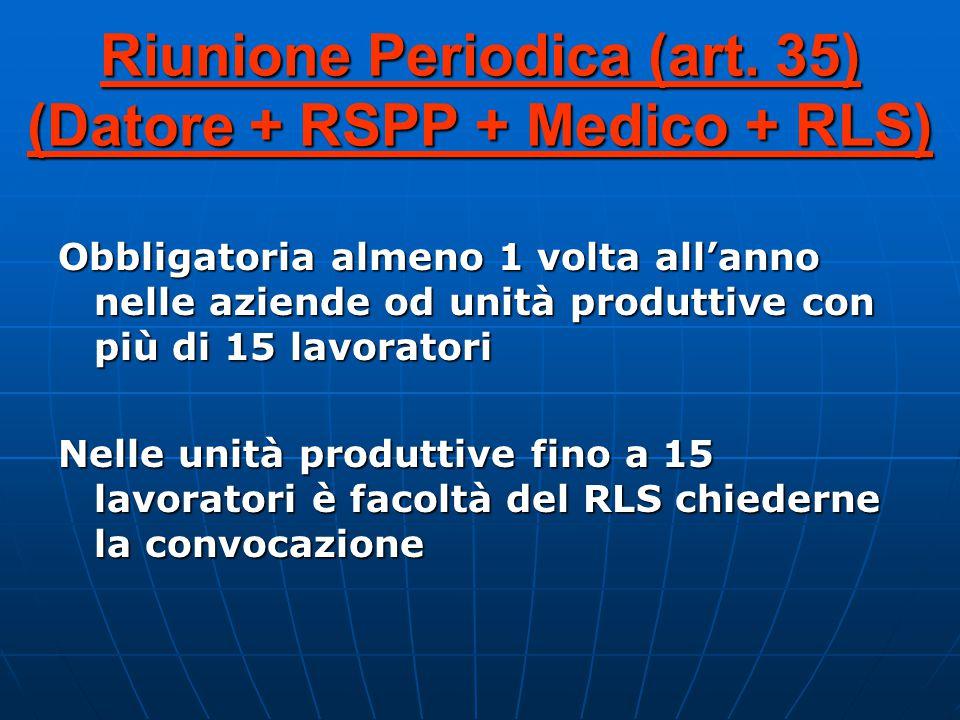 Riunione Periodica (art.