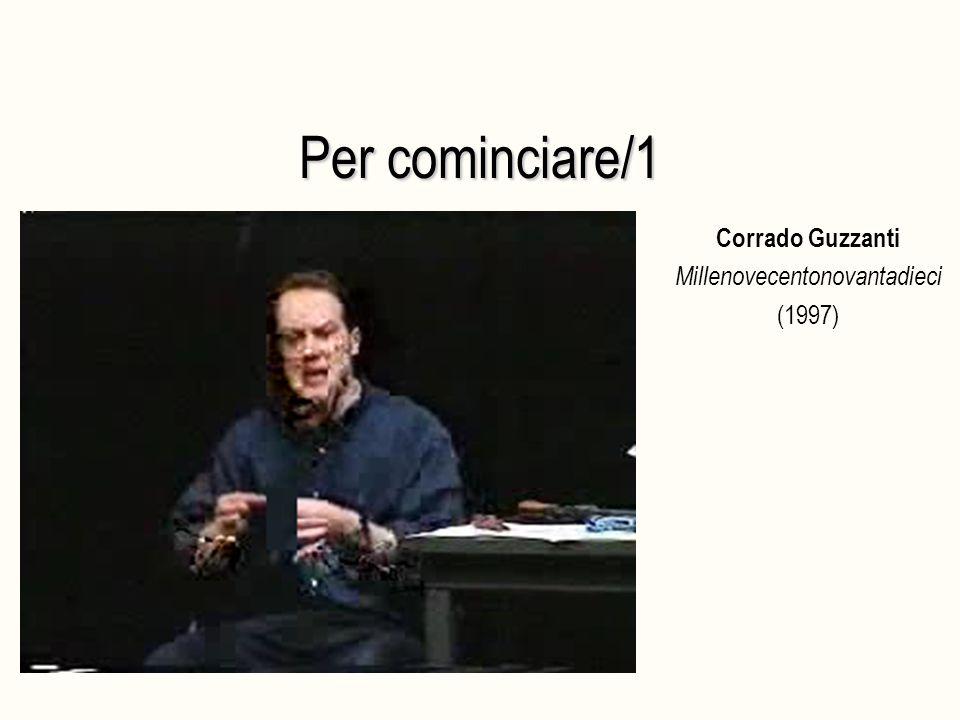 Per cominciare/1 Corrado Guzzanti Millenovecentonovantadieci (1997)
