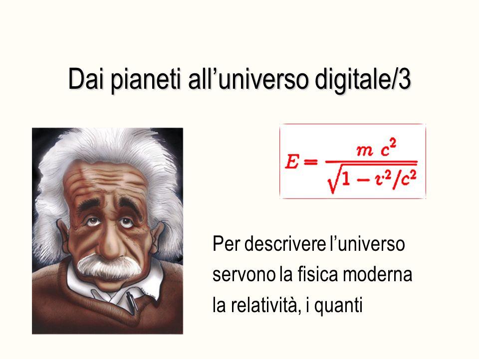 Dai pianeti all'universo digitale/3 Per descrivere l'universo servono la fisica moderna la relatività, i quanti
