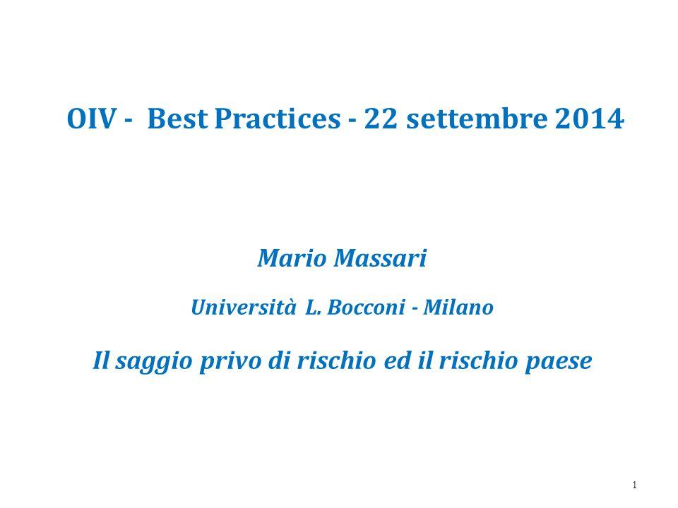 OIV - Best Practices - 22 settembre 2014 Mario Massari Università L.