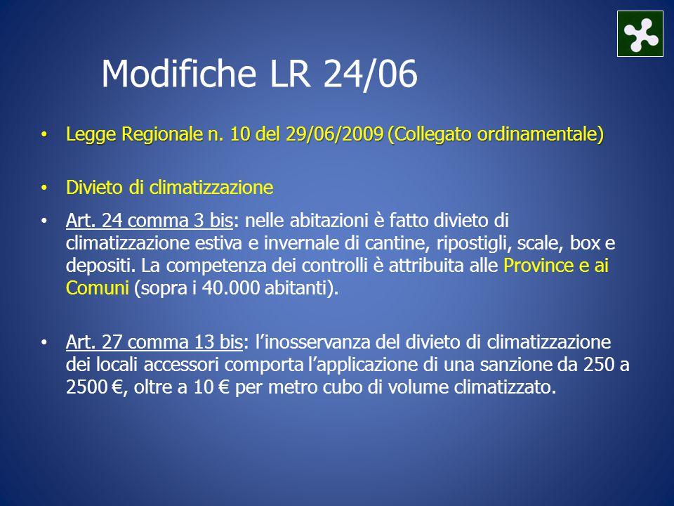 Modifiche LR 24/06 Legge Regionale n.