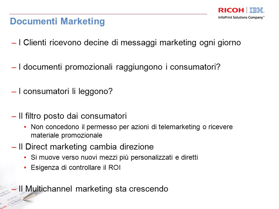 Cos'è il TransPromo Estratti conto, bollette, fatture Direct Marketing TransPromo