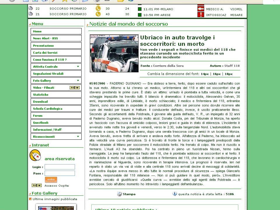 PROCEDURE: POSIZIONAMENTO 5/2/1997 (TO) Autostrada / 01.30 / Visibilità buona / Ambulanza ferma con lampeggianti e 4 frecce / Tir sventra l'ambulanza