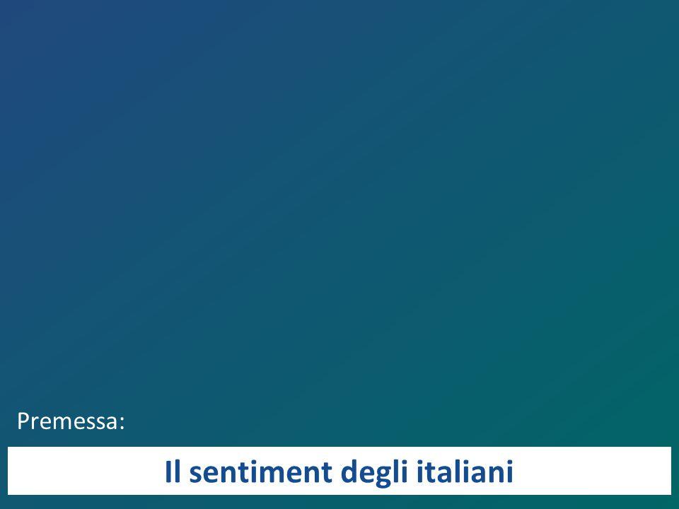 Premessa: Il sentiment degli italiani