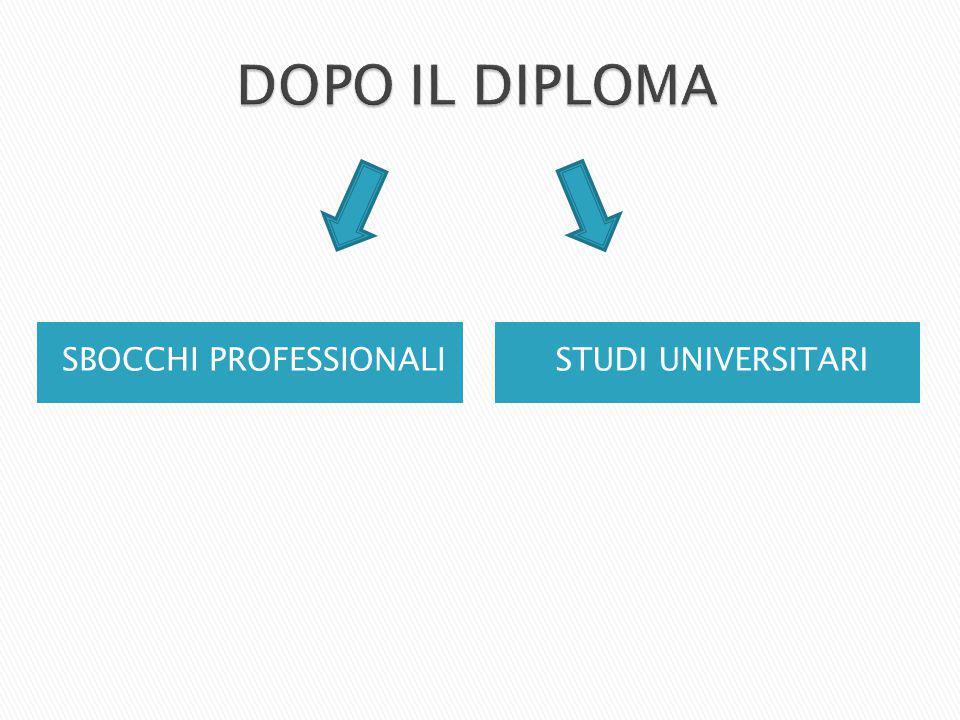 SBOCCHI PROFESSIONALISTUDI UNIVERSITARI