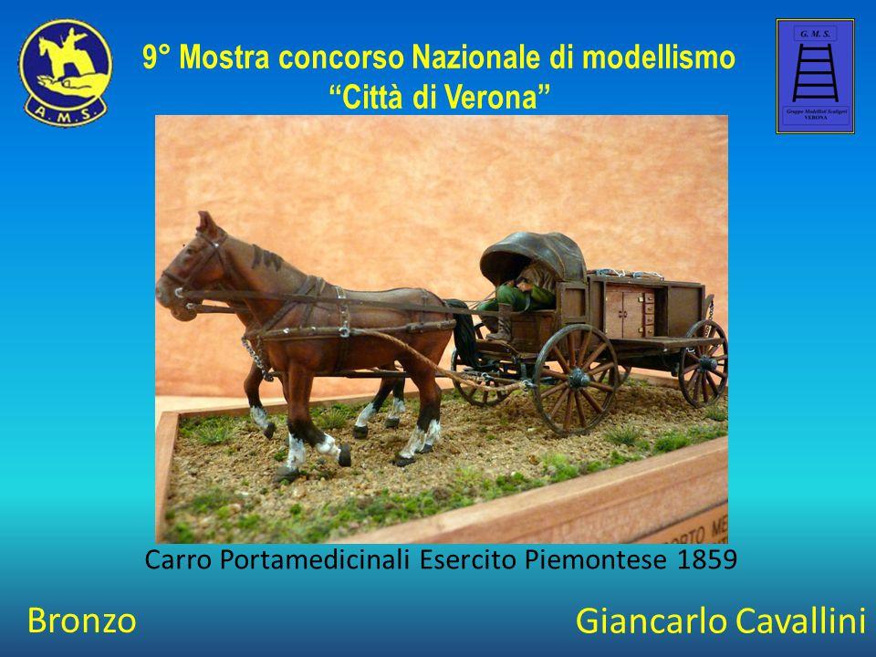 Giancarlo Cavallini Carro Portamedicinali Esercito Piemontese 1859 9° Mostra concorso Nazionale di modellismo Città di Verona Bronzo