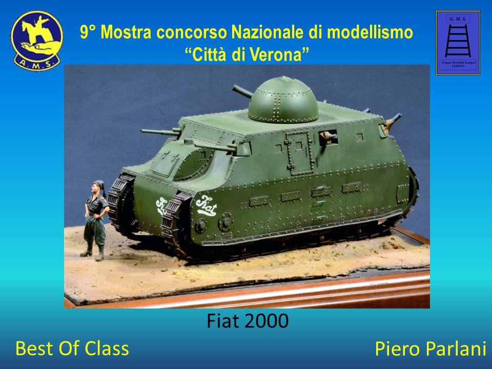 Piero Parlani Fiat 2000 9° Mostra concorso Nazionale di modellismo Città di Verona Best Of Class