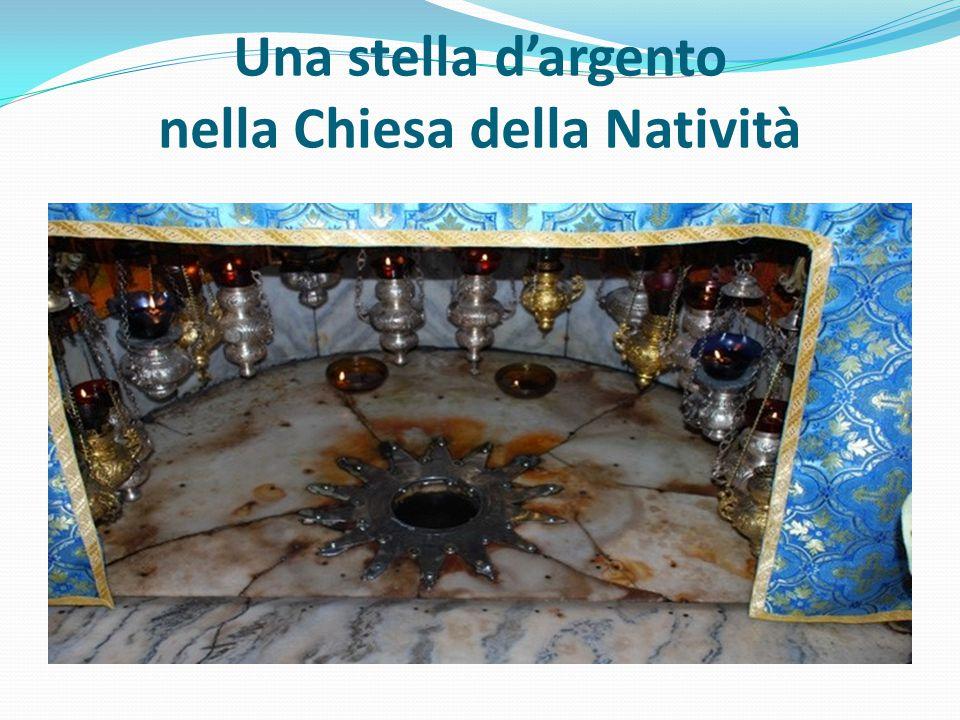 Una stella d'argento nella Chiesa della Natività