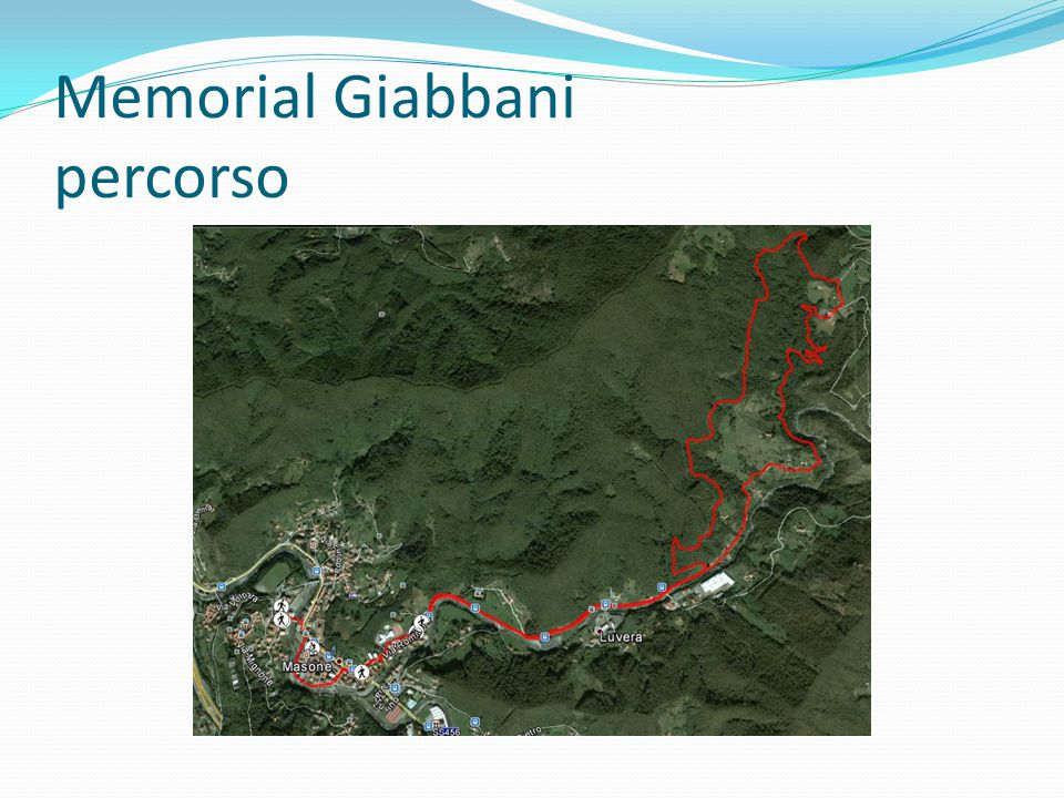 Memorial Giabbani percorso