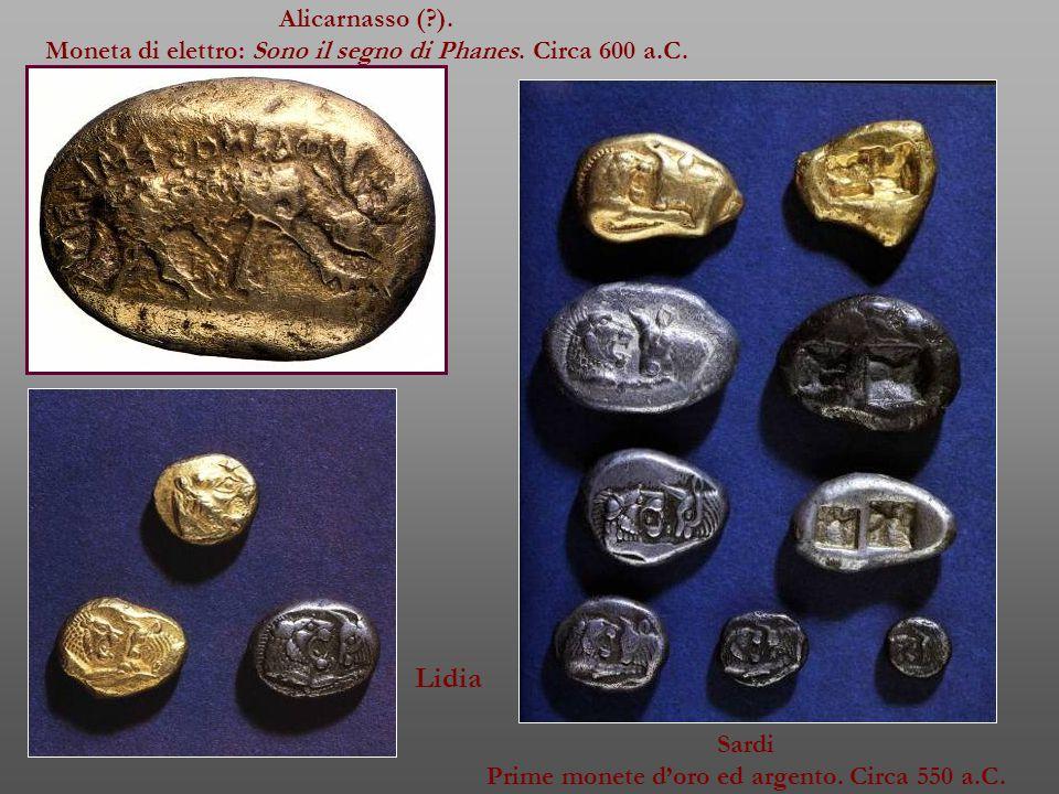 Alicarnasso (?).Moneta di elettro: Sono il segno di Phanes.