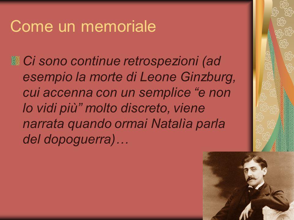 Come un memoriale … e anticipazioni (es.