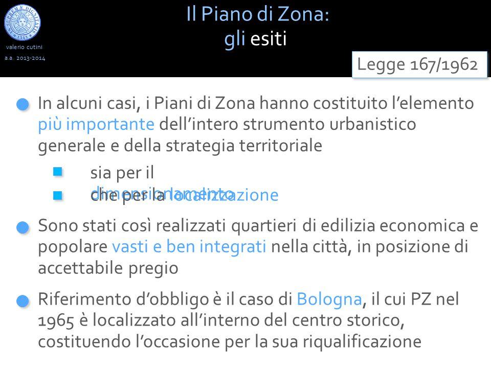 valerio cutini Il Piano di Zona: gli esiti a.a. 2013-2014 Legge 167/1962 sia per il dimensionamento In alcuni casi, i Piani di Zona hanno costituito l