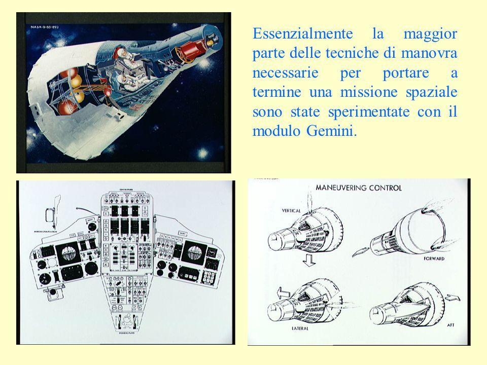 Essenzialmente la maggior parte delle tecniche di manovra necessarie per portare a termine una missione spaziale sono state sperimentate con il modulo