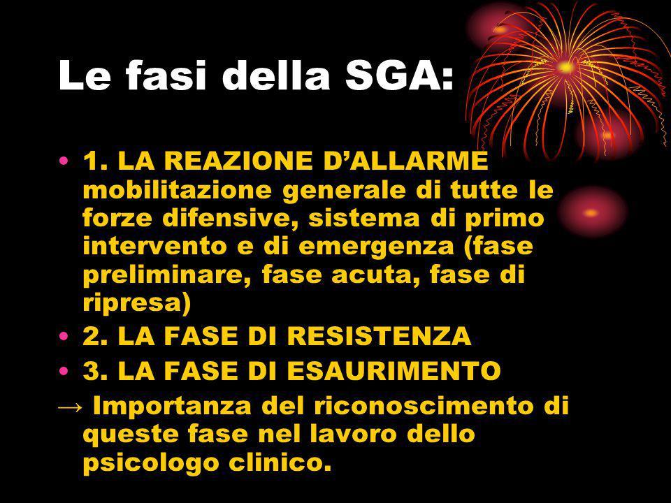 Le fasi della SGA: 1. LA REAZIONE D'ALLARME mobilitazione generale di tutte le forze difensive, sistema di primo intervento e di emergenza (fase preli