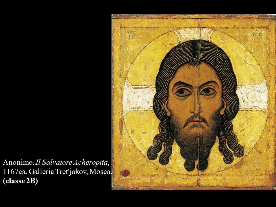 Anonimo. Il Salvatore Acheropita, 1167ca. Galleria Tret'jakov, Mosca. (classe 2B)