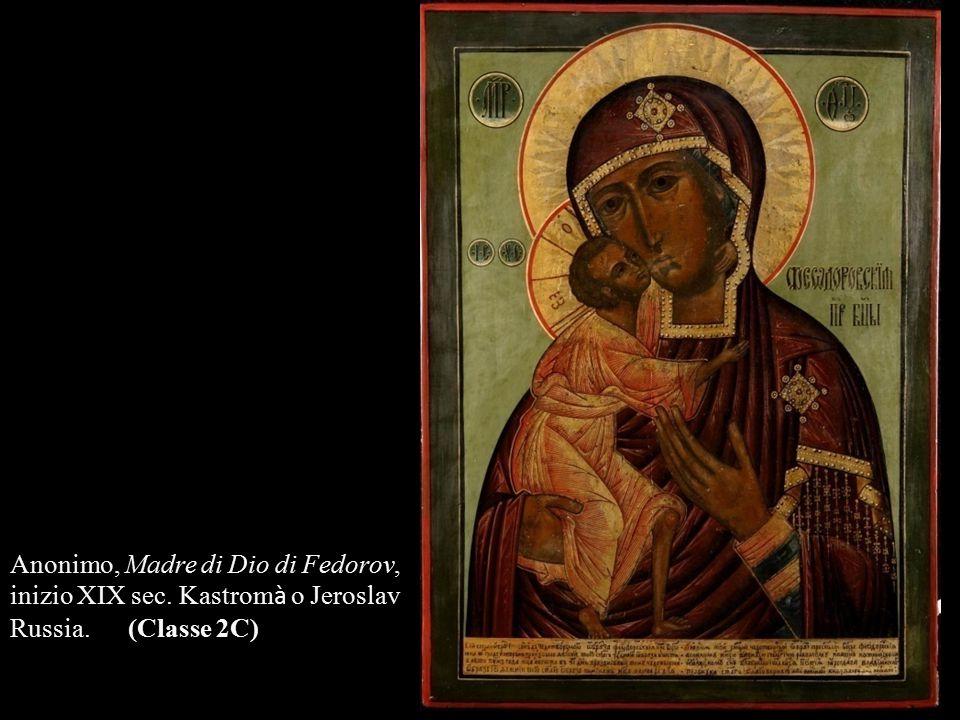 Anonimo, Madre di Dio di Fedorov, inizio XIX sec. Kastrom à o Jeroslav Russia. (Classe 2C)