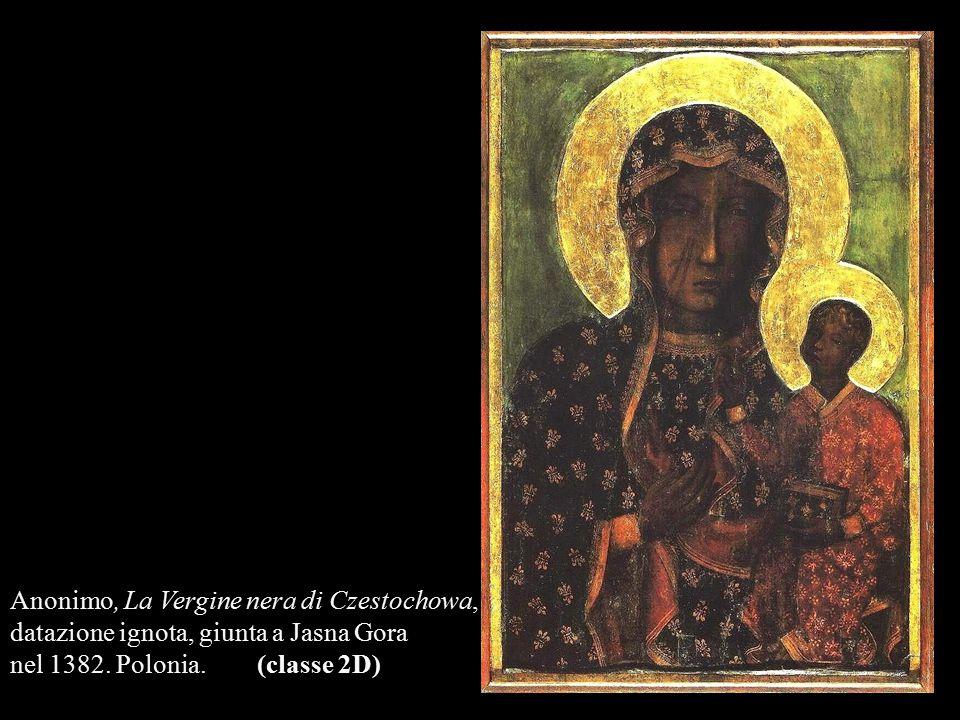 Anonimo, La Vergine nera di Czestochowa, datazione ignota, giunta a Jasna Gora nel 1382. Polonia. (classe 2D)