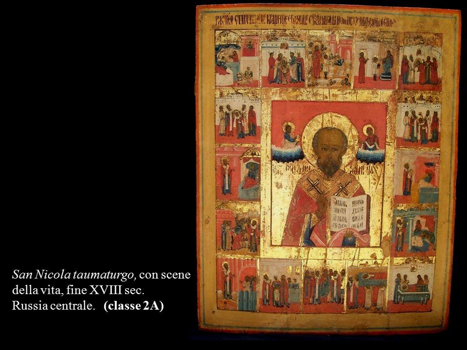 San Nicola taumaturgo, con scene della vita, fine XVIII sec. Russia centrale. (classe 2A)