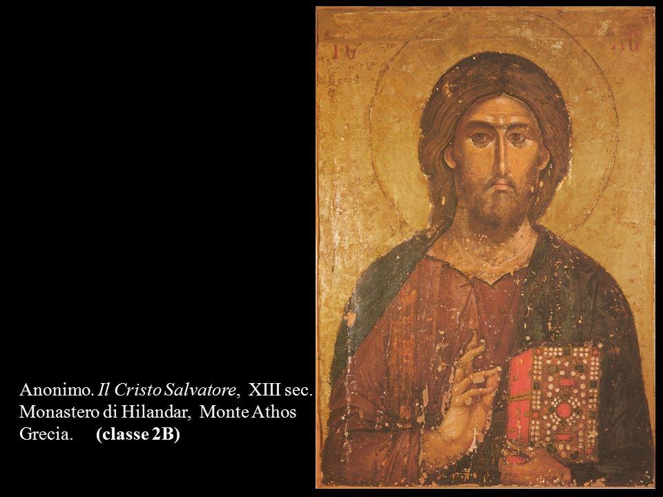 Anonimo. Il Cristo Salvatore, XIII sec. Monastero di Hilandar, Monte Athos Grecia. (classe 2B)