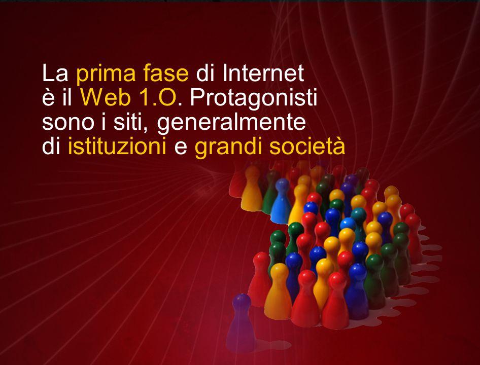 La prima fase di Internet è il Web 1.O.