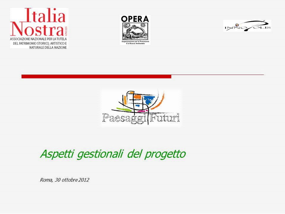 Aspetti gestionali del progetto Roma, 30 ottobre 2012