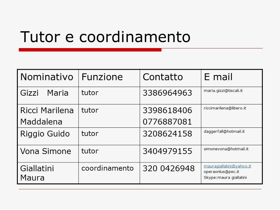 Regolarità degli aggiornamenti Ogni mese è necessario comunicare (via mail): -Time sheet Serve per la rendicontazione -Modello interno attività funzionali al progetto ( modello2_attvità funzionali al progetto) Serve al progetto, per capire le attività che si stanno svolgendo
