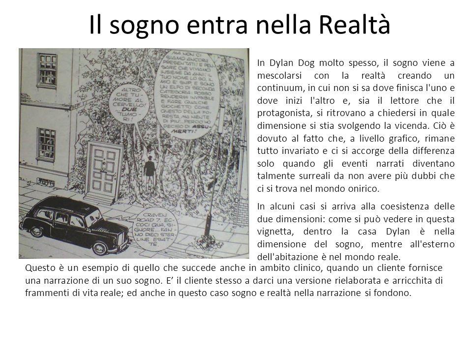 Il sogno entra nella Realtà In Dylan Dog molto spesso, il sogno viene a mescolarsi con la realtà creando un continuum, in cui non si sa dove finisca l