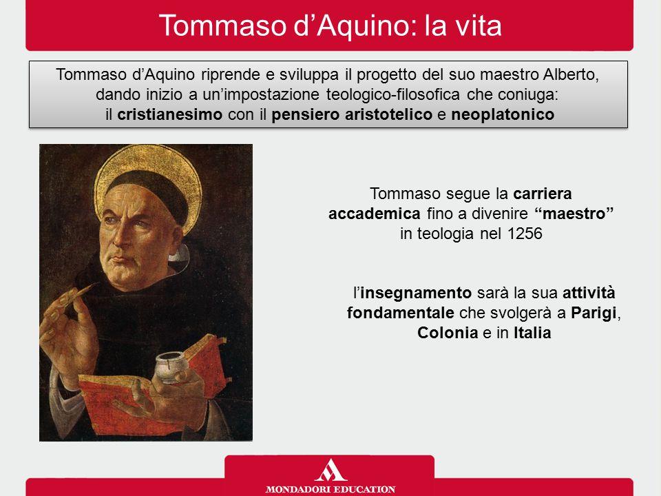 Tommaso d'Aquino: la vita Tommaso d'Aquino riprende e sviluppa il progetto del suo maestro Alberto, dando inizio a un'impostazione teologico-filosofic