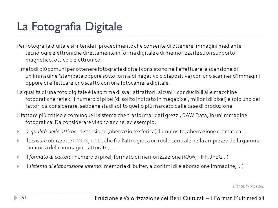 La Fotografia Digitale Per fotografia digitale si intende il procedimento che consente di ottenere immagini mediante tecnologie elettroniche direttamente in forma digitale e di memorizzarle su un supporto magnetico, ottico o elettronico.
