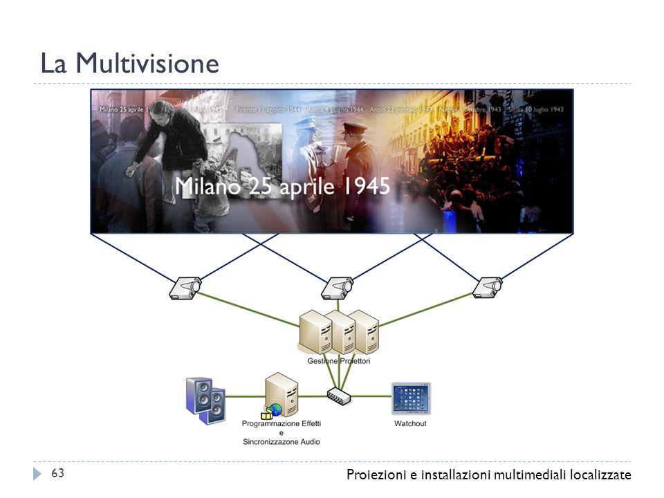 La Multivisione Proiezioni e installazioni multimediali localizzate 63