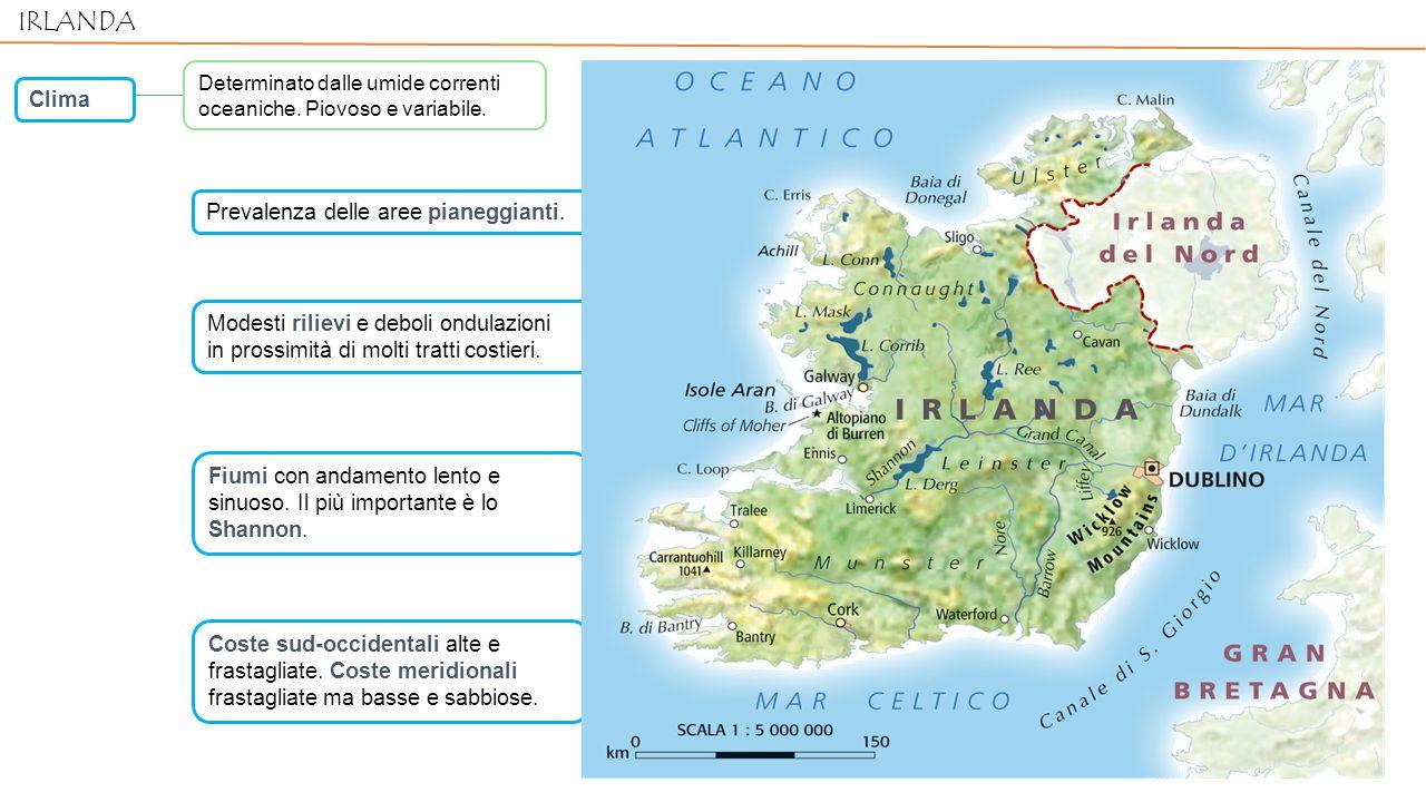 Coste sud-occidentali alte e frastagliate.Coste meridionali frastagliate ma basse e sabbiose.