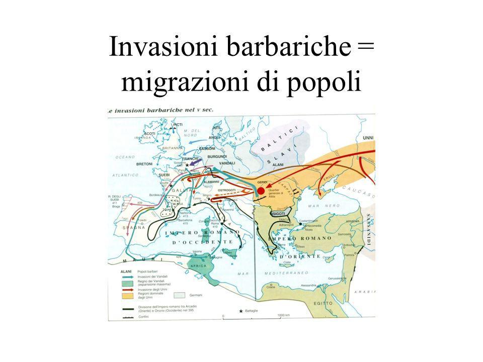 Invasioni barbariche = migrazioni di popoli