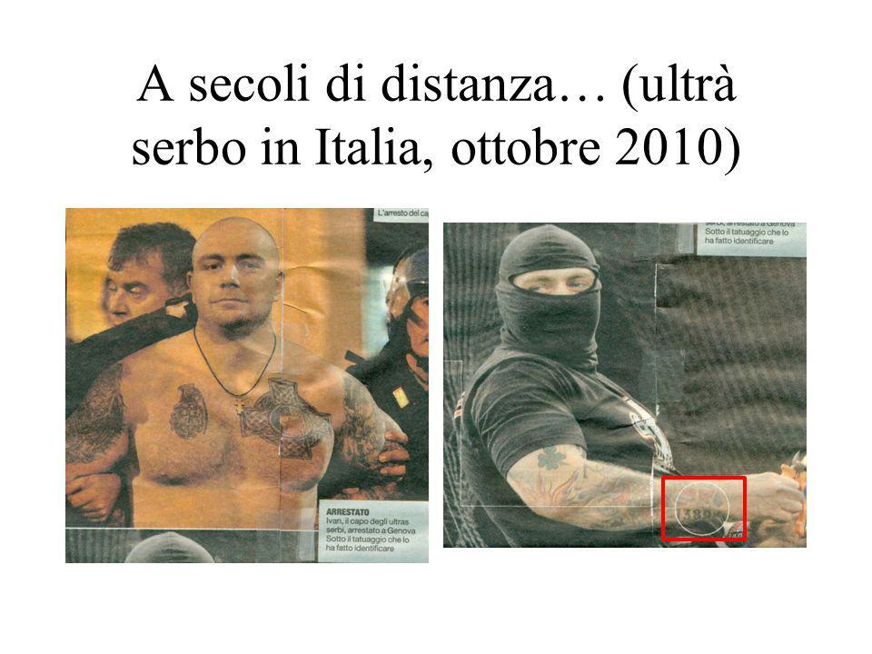 A secoli di distanza… (ultrà serbo in Italia, ottobre 2010)