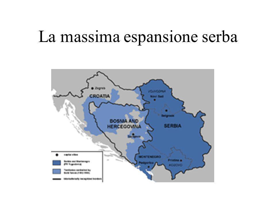 La massima espansione serba