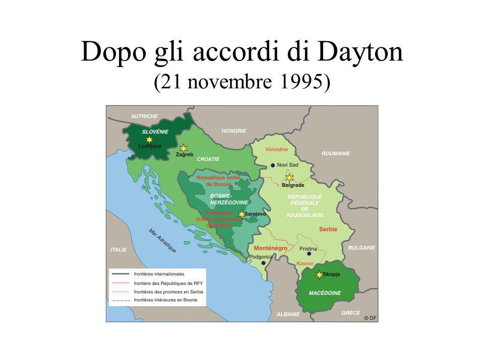 Dopo gli accordi di Dayton (21 novembre 1995)