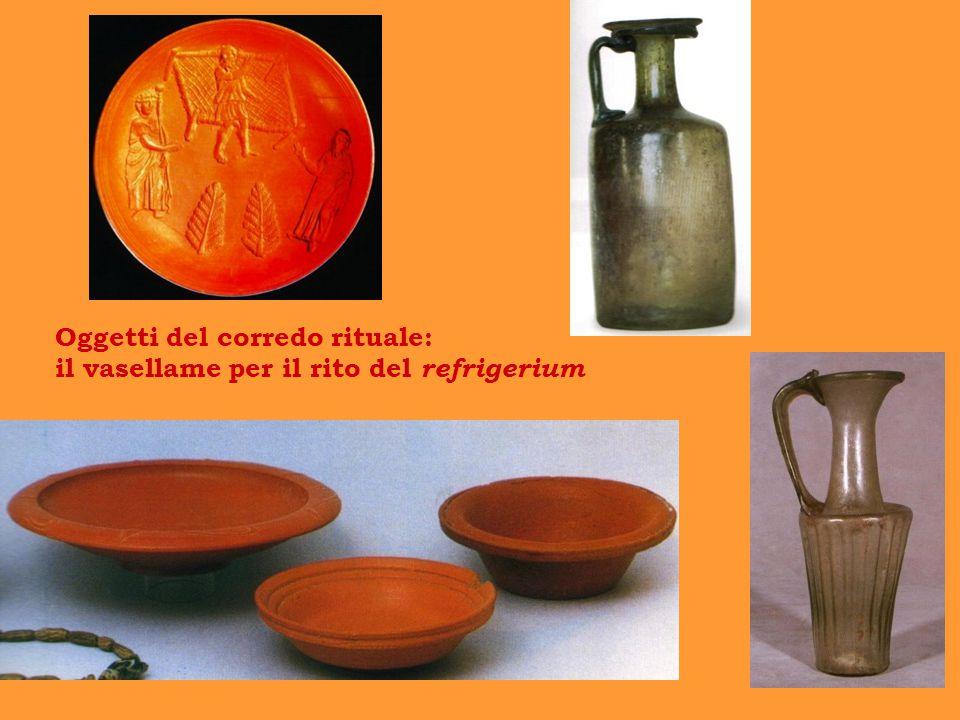 Oggetti del corredo rituale: il vasellame per il rito del refrigerium