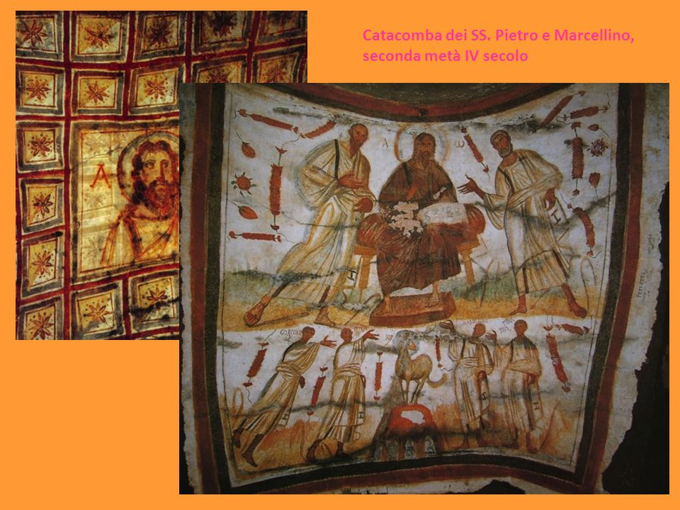 Catacomba dei SS. Pietro e Marcellino, seconda metà IV secolo