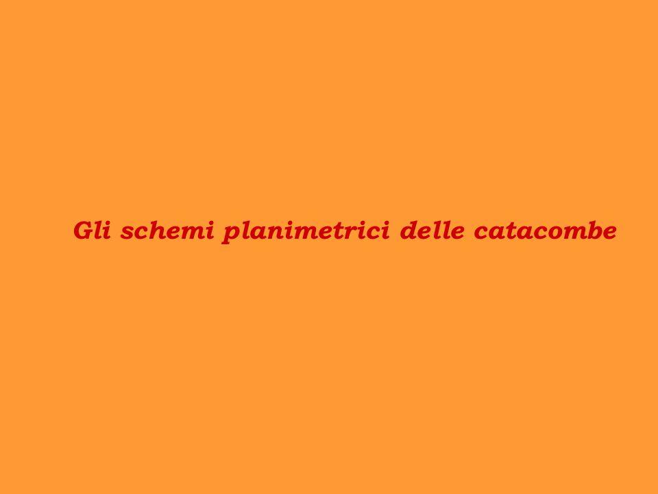 Gli schemi planimetrici delle catacombe