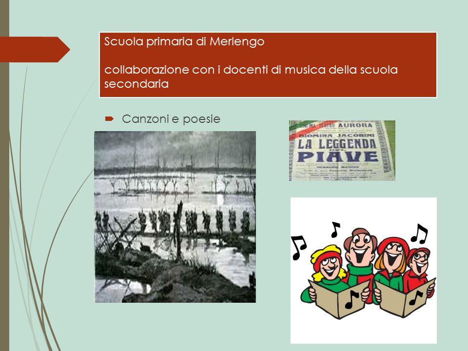 Scuola primaria di Merlengo collaborazione con i docenti di musica della scuola secondaria  Canzoni e poesie