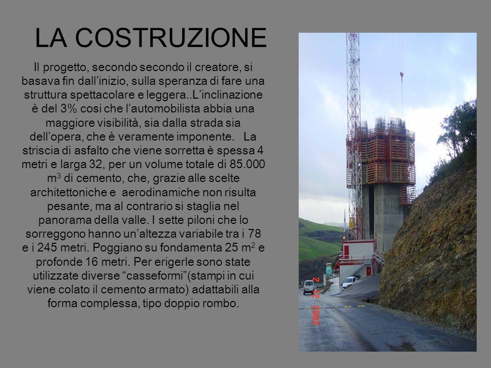 Con il sistema delle casseformi, il cemento man mano che induriva, queste venivano sollevate di 4 metri, consentendo a alle pile di crescere fino di 8 metri alla settimana.
